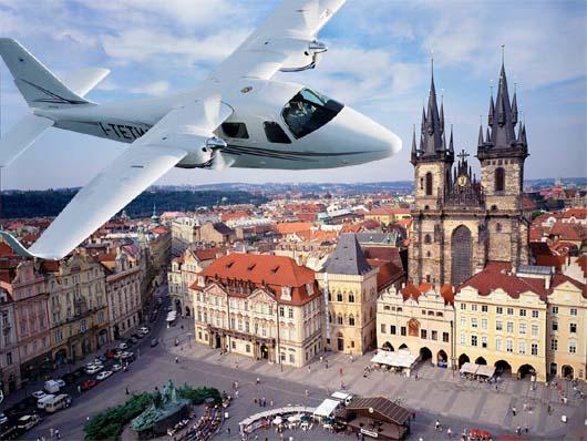Let nad Prahou